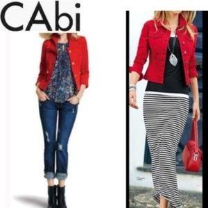 CAbi Red Denim Jacket #606 Size S